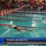 Torneo internacional de natación continúa expectante