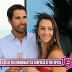 Vania Masías recibió romántica sorpresa de su esposo