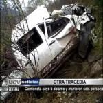 Camioneta cayó a abismo en Huamachuco y murieron seis personas