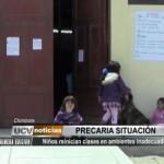 Chimbote: Niños reinician clases en ambientes inadecuados