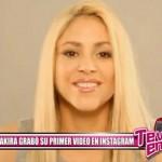Shakira grabó su primer vídeo en Instagram