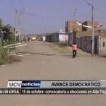 15 de octubre: Convocatoria a elecciones en Alto Trujillo