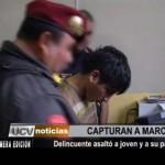 Delincuente asaltó a joven y a su padre en óvalo Papal