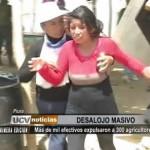 Piura: Más de mil efectivos policiales desalojaron a 300 agricultores
