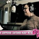 Eva Ayllón sorprende cantando heavy metal
