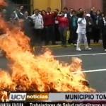 Trabajadores de Salud radicalizaron sus protestas