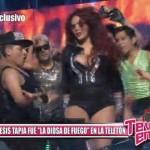 """Génesis Tapia fue """"La Diosa de Fuego"""" en la Teletón"""