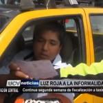 Continúa segunda semana de fiscalización a taxistas