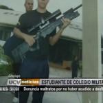 Chiclayo: Estudiante acusa de maltrato a alto mando de colegio militar
