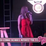 Karen Schwarz encendió el Motorfest Perú 2014