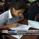 Material para evaluación censal de escolares están a punto de distribuirse