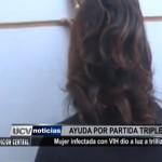 Mujer infectada con VIH dio a luz trillizos