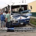 Triple choque dejó 10 personas heridas