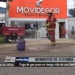 Fuga de gas puso en riesgo vida de una familia