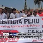 Partido Justicia Perú presentó a candidatos