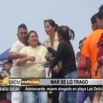 Adolescente muere ahogado en playa Las Delicias