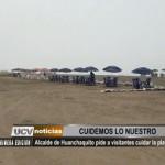 Alcalde de Huanchaquito pide a visitantes cuidar la playa