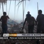 Pánico a causa de incendio de almacén en Buenos Aires