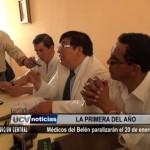 Médicos del Belén paralizarán el 20 de enero