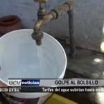 Tarifas de agua subirían hasta en 40%