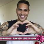 Paolo Guerrero saluda a los hinchas por el día de San Valentín