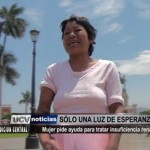 Ayuda social: Mujer pide ayuda para tratar insuficiencia renal