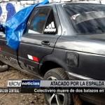 Colectivero muere de dos balazos en Virú
