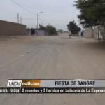 Dos muertos y tres heridos en balacera de La Esperanza