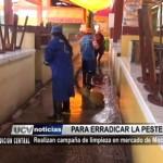 Realizan campaña de limpieza en mercado de Moche