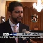Santa María invitó a Calderón a apoyarlo en candidatura