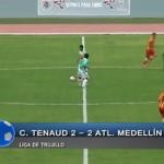 Tenaud y Medellín empatan 2-2