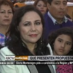 Gloria Montenegro pide a candidatos presentar propuestas
