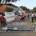 Retiran muros que previenen accidentes en urbanización Santa María