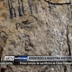 Pintan templo de sacrificios en Cerro Campana