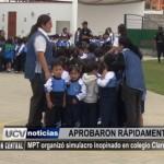 Municipalidad de Trujillo organizó simulacro inopinado en colegio Claretiano