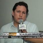Salaverry critica a candidato Luis Santa María