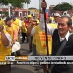 Fonavistas exigen al Gobierno devolución de sus aportes