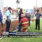 Fuga de gas alertó a transeúntes en Plaza Mayor
