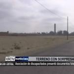 Asociación de discapacitados presentó documentos de terreno falsos