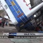 Cobrador de microbús murió trágicamente