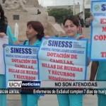 Enfermeras de EsSalud cumplen siete días de huelga