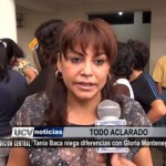 Tania Baca niega diferencias con Gloria Montenegro