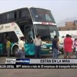 Detectan a más de 20 empresas de transporte informal