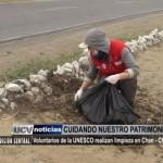 Voluntarios de la UNESCO realizan limpieza en Chan Chan