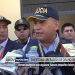 Ministro del Interior cuestiona liberación de delincuentes