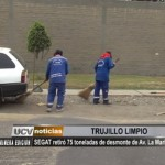 SEGAT retiró 75 toneladas de desmonte de avenida La Marina