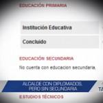 Informe de Contacto: Alcalde con diplomados, pero sin secundaria