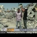 Gaza: Periodista propone Bucket Challenge de escombros