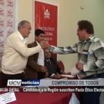 Candidatos a la Región suscriben Pacto Ético Electoral