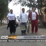 Vásquez Llamo y compañía limpiaron calles de su distrito